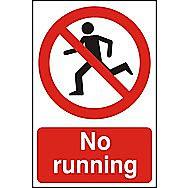 Centurion No Running PVC Sign 300 x 200mm