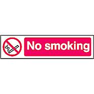 Centurion No Smoking PVC Sign 200 x 50mm