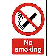 Centurion No Smoking PVC Sign 600 x 400mm