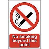 Centurion No Smoking Beyond this Point Window Sticker 300 x 200mm