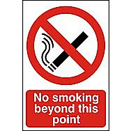 Centurion No Smoking Beyond this Point PVC Sign 300 x 200mm