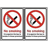 Centurion No Smoking Double Sided Self Adhesive Sign 210 x 148mm