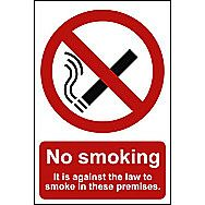 Centurion No Smoking Window Sticker Sign 210 x 148mm