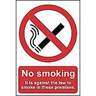 Centurion No Smoking Self Adhesive Vinyl Sign 210 x 148mm