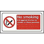 Centurion No Smoking Tactile Braille Sign 300 x 150mm