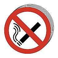 Centurion No Smoking Symbol Signs 100mm Pack of 10