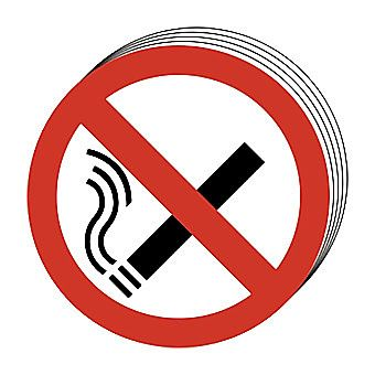 Centurion No Smoking Symbol Signs 50mm Pack of 10