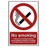 Centurion No Smoking On Premises Window Vinyl 300 x 200mm