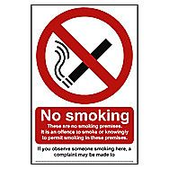 Centurion No Smoking These are no Smoking Premises PVC Sign 230 x 160mm