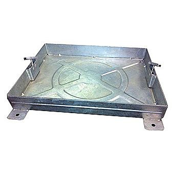 Galvanised Pavior Manhole Cover 600 x 600 x 80mm