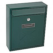 De Vielle Contemporary Post Box in Green