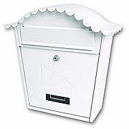 Devielle Traditional Style White Post Box