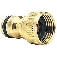 Draper 36197 Expert Brass 1/2 Inch BSP Garden Hose Tap Connector