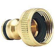 Draper 36198 Expert Brass 3/4 Inch BSP Garden Hose Tap Connector