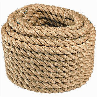 Manilla Natural Decking Edging Rope 28mm Per Metre