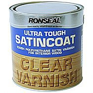 Ronseal Ultra Tough Satincoat Clear Varnish