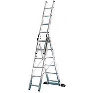 Hailo Aluminium 7 Tread Triple Extension Ladder