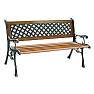 Redwood Leisure Two Seater Lattice Garden Bench - FC120