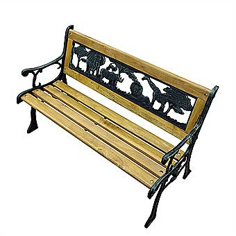 Noahs Ark Childrens Garden Bench MC174 Kids Bench