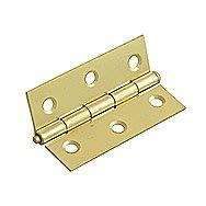 4 Inch Loose Pin Brassed Hinges - Pair
