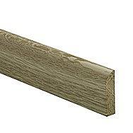Burbidge White Oak Flat D Shape 34 x 8 x 2400mm