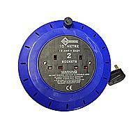 13 Amp Cable Cassette Reel 10 Metre with 2 Sockets 240 Volt