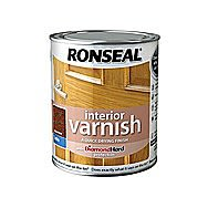 Ronseal Quick Drying Interior Varnish - Dark Oak Satin 750ml