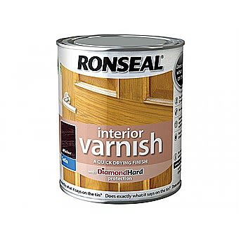 Ronseal Quick Drying Interior Varnish - Walnut Satin 250ml