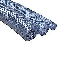 Braided Clear PVC Tubing Hose 1/2 Inch