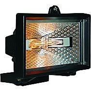 Elro 400w Halogen Outdoor Black Floodlight - HL400