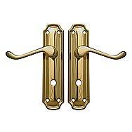 Centurion VB186L Polished Brass Firenze Bathroom Door Handles