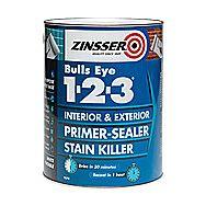 Zinsser Bulls Eye 1-2-3 Primer-Sealer Stain Killer White