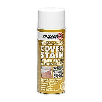 Zinsser Cover Stain Primer-Sealer Stain Killer White Aerosol 400ml