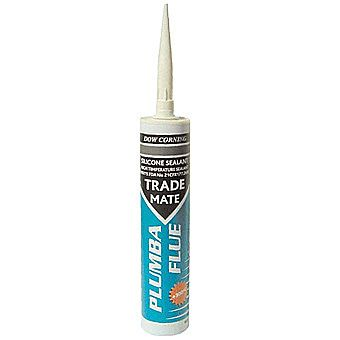 Dow Corning Plumba Flue High Temperature Silicone Sealant - Red