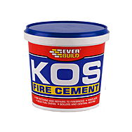 EverBuild Kos Black Fire Cement For Patching And Repairs 1 Kilo