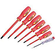 Draper 46540 7 Piece Fully Insulated Screwdriver Set with Mains Tester
