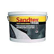 Sandtex High Build Ivory Textured 15 Year Decorative Paint 15kg
