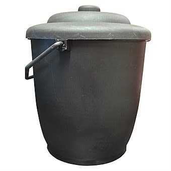 DeVielle Light Duty 10 Inch Plastic Coal Bucket with Lid SEP005271