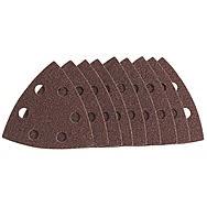 Draper 50959 80 Grit Hook & Loop Tri-Sand Discs Pack of 10