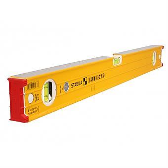 Stabila 96-2 Ribbed Box Section Double Plumb Spirit Level 180cm