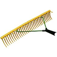 Jost 32 Tooth Plastic Rake with Wooden Shaft
