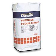 Larsen Flexible Floor Grout Grey 10kg