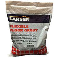 Larsen Flexible Floor Grout Grey 3kg