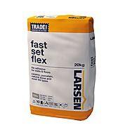 Larsen Trade Fast Set Flexible Tile Adhesive Grey 20kg