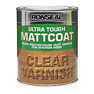 Ronseal Ultra Tough Mattcoat Clear Varnish 750ml