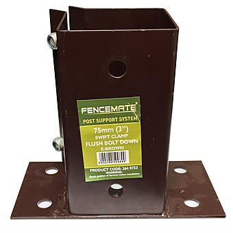 3 Inch Flush Bolt Down Fencemate Fence Post Support & Clamp