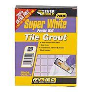 EverBuild Super White Wall Tile Grout 1kg