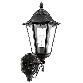 Eglo Navedo Black Outdoor Wall Light with Up Design 93457