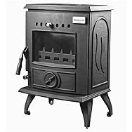 Blacksmith Anvil Multi Fuel Stove 6Kw Matt Black Stove