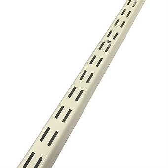 Sovella Upright Twin Slot Shelf Rail 50cm White